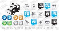 web2.0 style icon vector material