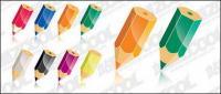 Color pencil vector material-2
