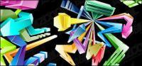 Cool style three-dimensional crystal arrow