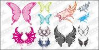 Lovely wings vector material