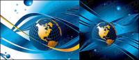 Blue Earth City line vector material