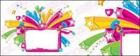 Vector colorful bulletin board material