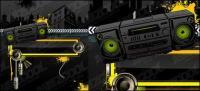 Radio City Music theme vector material