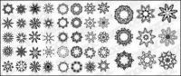 Several circular pattern vector material