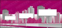 City construction blank billboard material vector