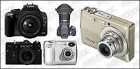 digital cameras vector material