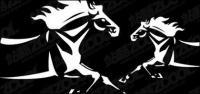 Vector horses material