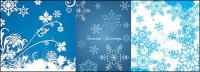 blue snowflakes vector background material