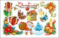 Beautiful and lovely Christmas element vector material