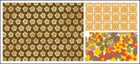 practical flower pattern vector background
