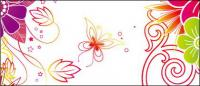 Butterfly flower fashion background