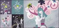 Alternative theme vector material girl