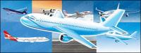 civilian airliner vector material