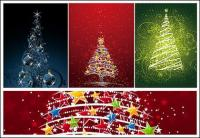 flashing Christmas tree vector material