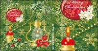 Candlelight Christmas decoration pattern vector material