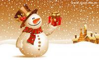 Snowman snow Vector fine material