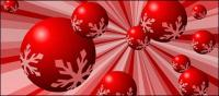 Red snow ball vector material