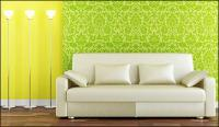 Stylish interior decoration picture material