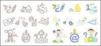 Cute icon series vector material-2