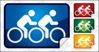 Double cycling icon angle