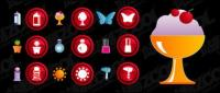 The theme of cute female icon vector material