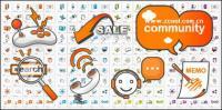 Web Design gray decorative orange icon
