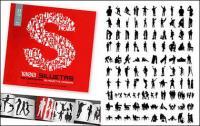 1000 album various silhouette vector material-1