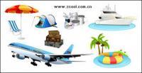 Tourism travel icon vector material