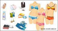 Fashion icon vector material