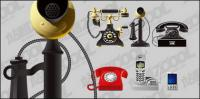 Old and new telephone vector material