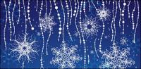 Special vector snowflakes background material
