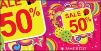 Discount sales trend vector material-4