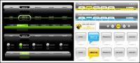 page navigation menu design vector material