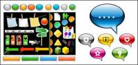 Web design element vector material commonly used buttons