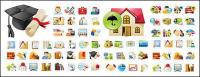 practical icon vector material