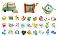 Cute exquisite three-dimensional icon vector material-1