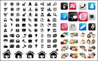 Three sets of icon vector material