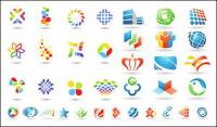 A number of logo template vector graphics material