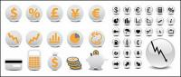 round financial icon vector material