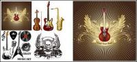 Musical instruments vector material