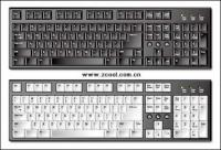 Exquisite keyboard vector material