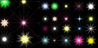 Stars shining color vector material