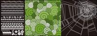 Spider web lace with the pattern vector material
