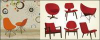 Fashion chair vector material