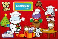 cute cartoon characters Cowco Christmas vector subject material