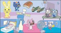 Happy Tree Friends cartoon characters vector material