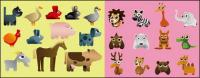 Variety of cartoon animals vector material