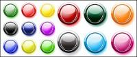 Many button colors Crystal round vector material