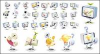 High-tech three-dimensional icon style vector material-3