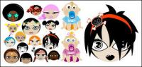 Cute cartoon characters vector material